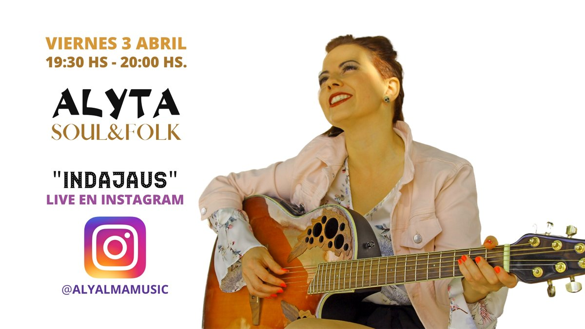 ¡¡¡ Imprescindible plan!!!  De nuestra amiga @AlyAlmaMusic No para..... mañana viernes y el martes 7 también #indajaus live en IG Siguela también en:  https://t.co/TVbCTBmfKA Todo en su #perfil en #linkmusic #somoslinkmusic y #movemoslamúsicaenvivo