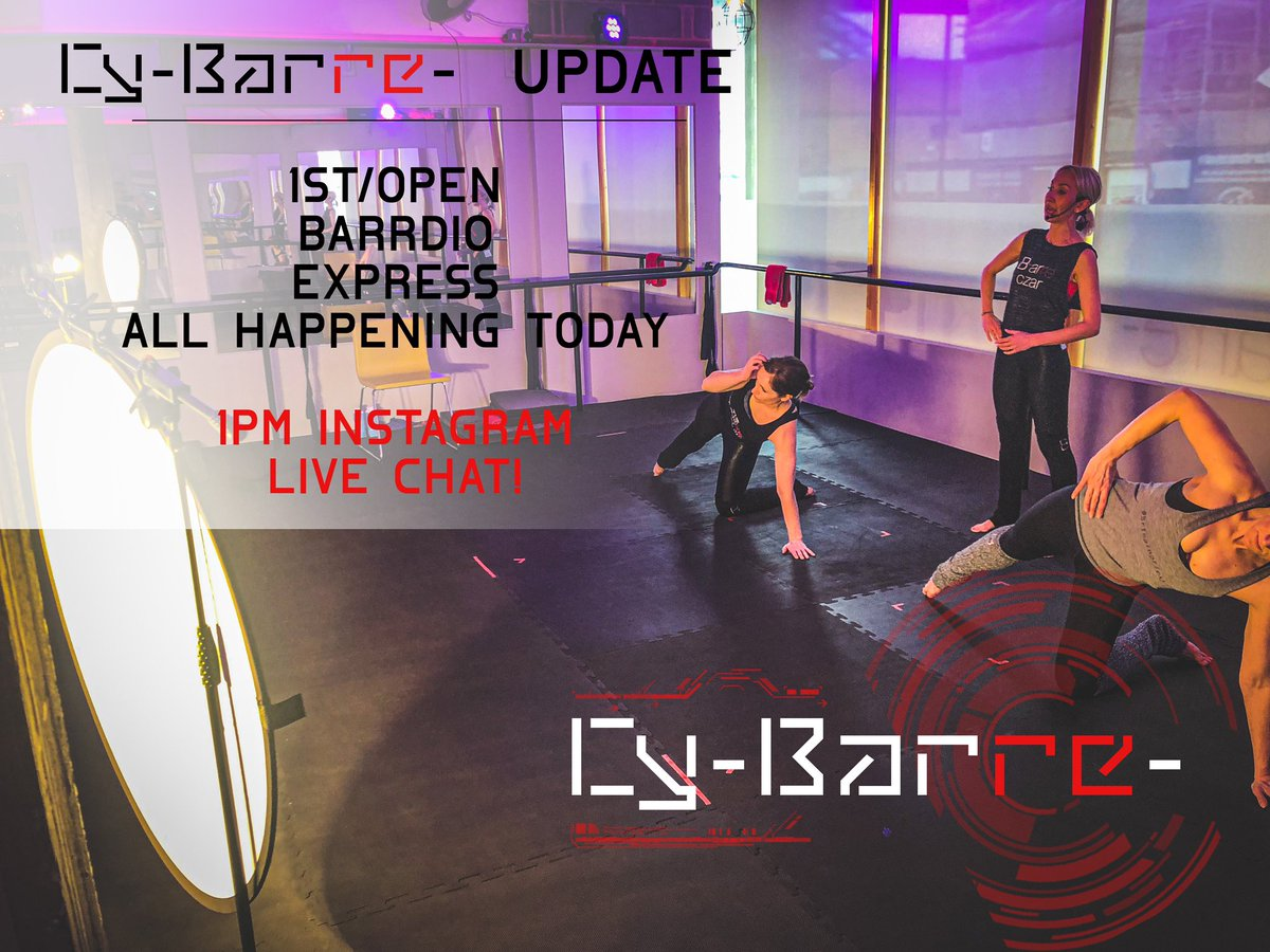 Loads going on today!! Get involved peeps! #cybarre #thebarre #fitness #barre