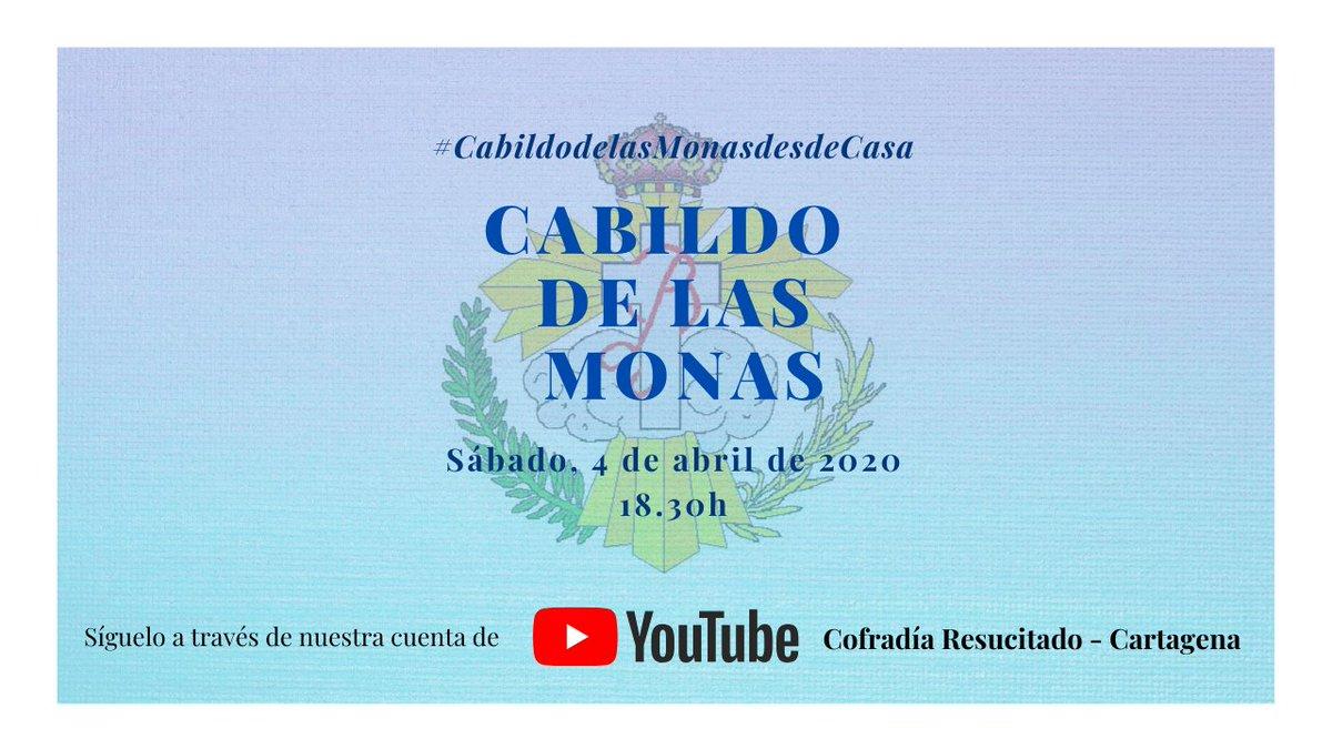Este año todo es especial, el Cabildo de las Monas no podría ser menos.   El sábado 4 de abril de 2020 a las 18.30h, me dirigiré a vosotros y podremos interactuar a través de un Cabildo de las Monas único, pues será a través de un directo en YouTube ▶️  https://t.co/Lxeu2e7iI5 https://t.co/YrsGY855As