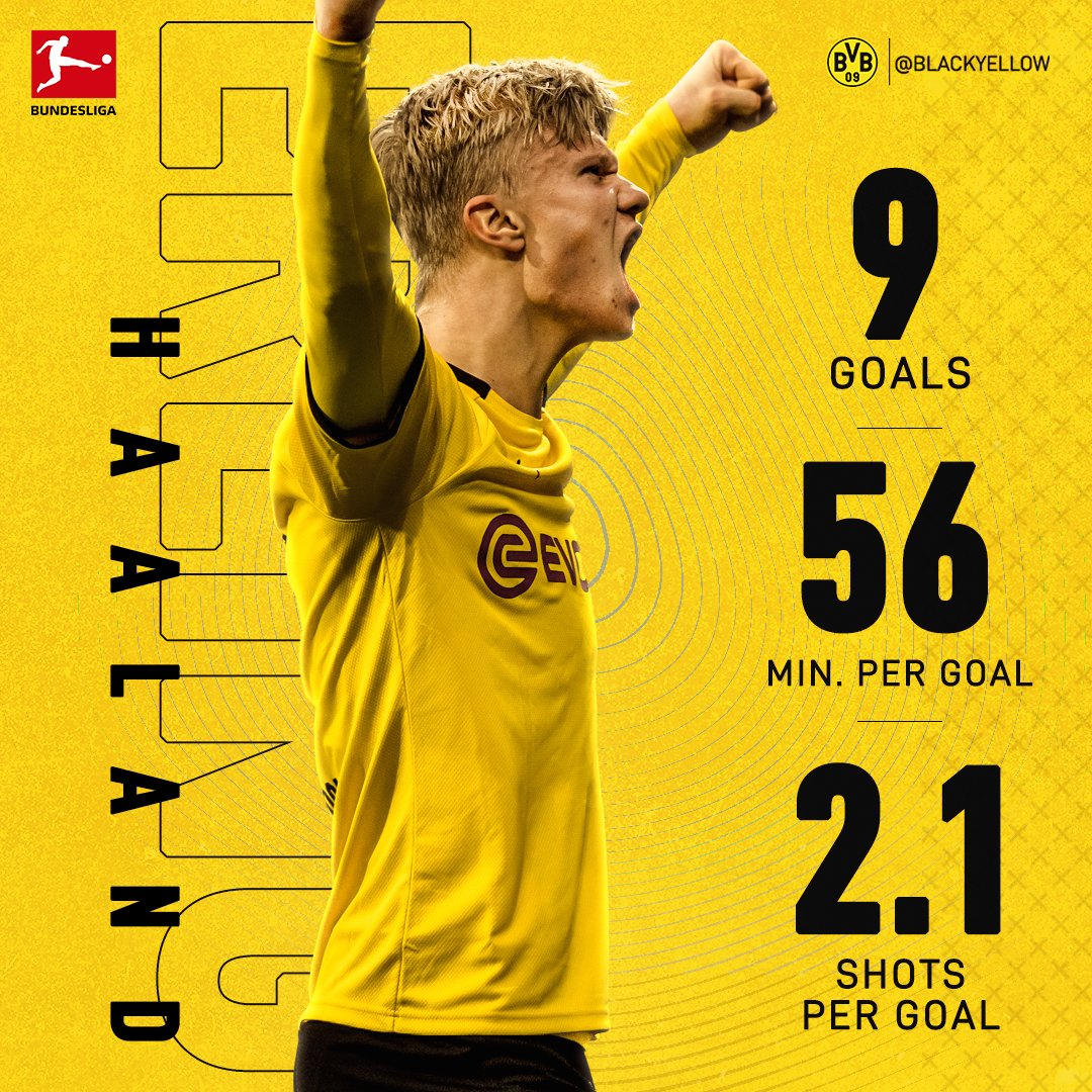BVB Stat Update: Erling Haaland ⭐️ The goal machine ⚙️