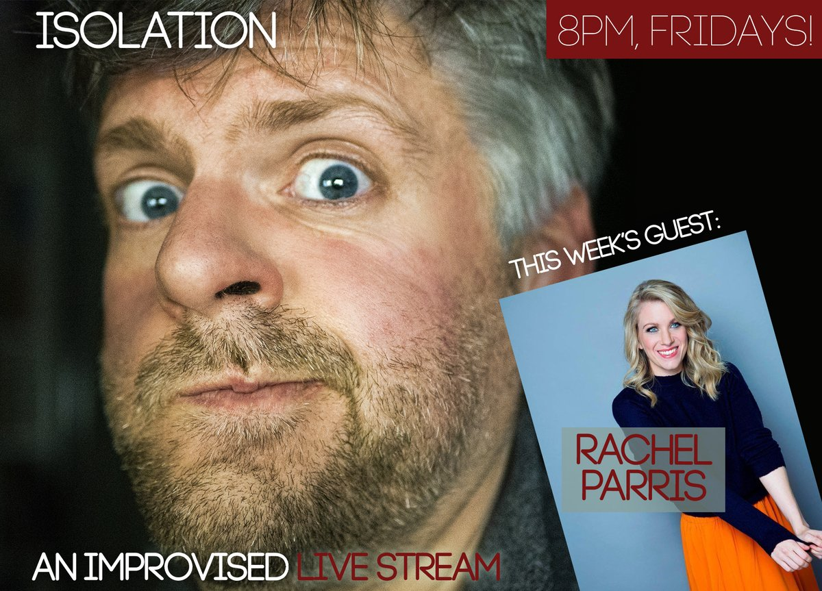 Delighted to have @rachelparris guesting with me tomorrow on my improvised livestream show ISOLATION! Tune in at 8pm UK time on facebook (link below). Music from @walshatkins.   http://www.facebook.com/andrewdpugsley pic.twitter.com/nrjrCHYYnW