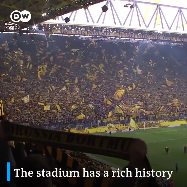 """Borussia Dortmund's stadium turns 46 today.  Home to #BVB and the """"Yellow Wall"""" 🖤💛  This is the story of one of football's most iconic grounds."""