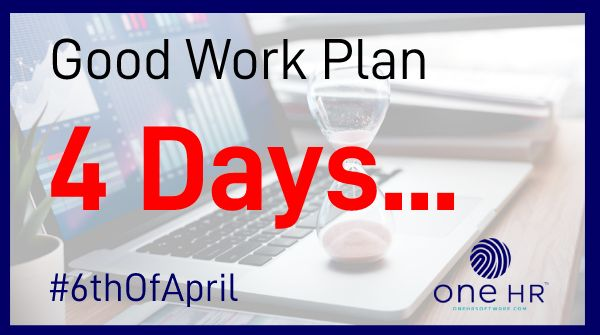 How prepared are you for the #GoodWorkPlan changes?  Your business only has 4 days left to get #compliant before the #6thOfApril.   To get your #contracts in place email us at;   - Contact@oneHRSoftware.compic.twitter.com/mkNQrx3Hvd