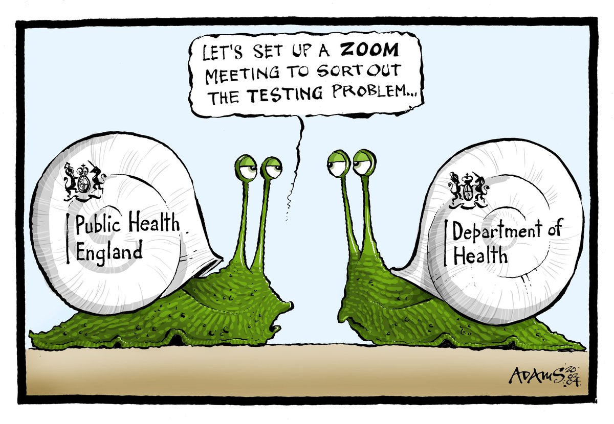 Our @Adamstoon1 @EveningStandard as the government tackle the testing crisis