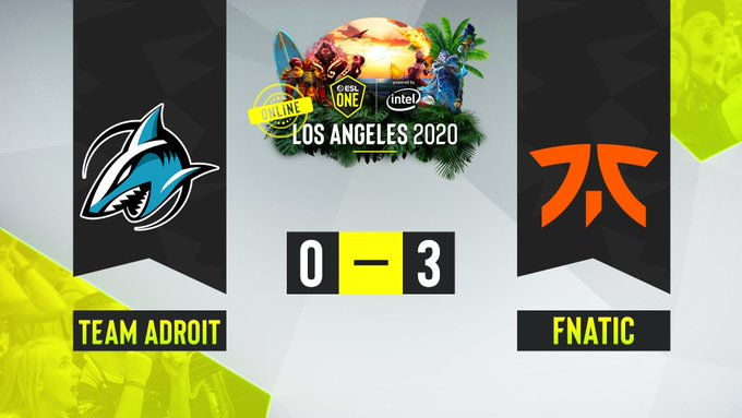 Team Adroit vs Fnatic ESL One LA Online
