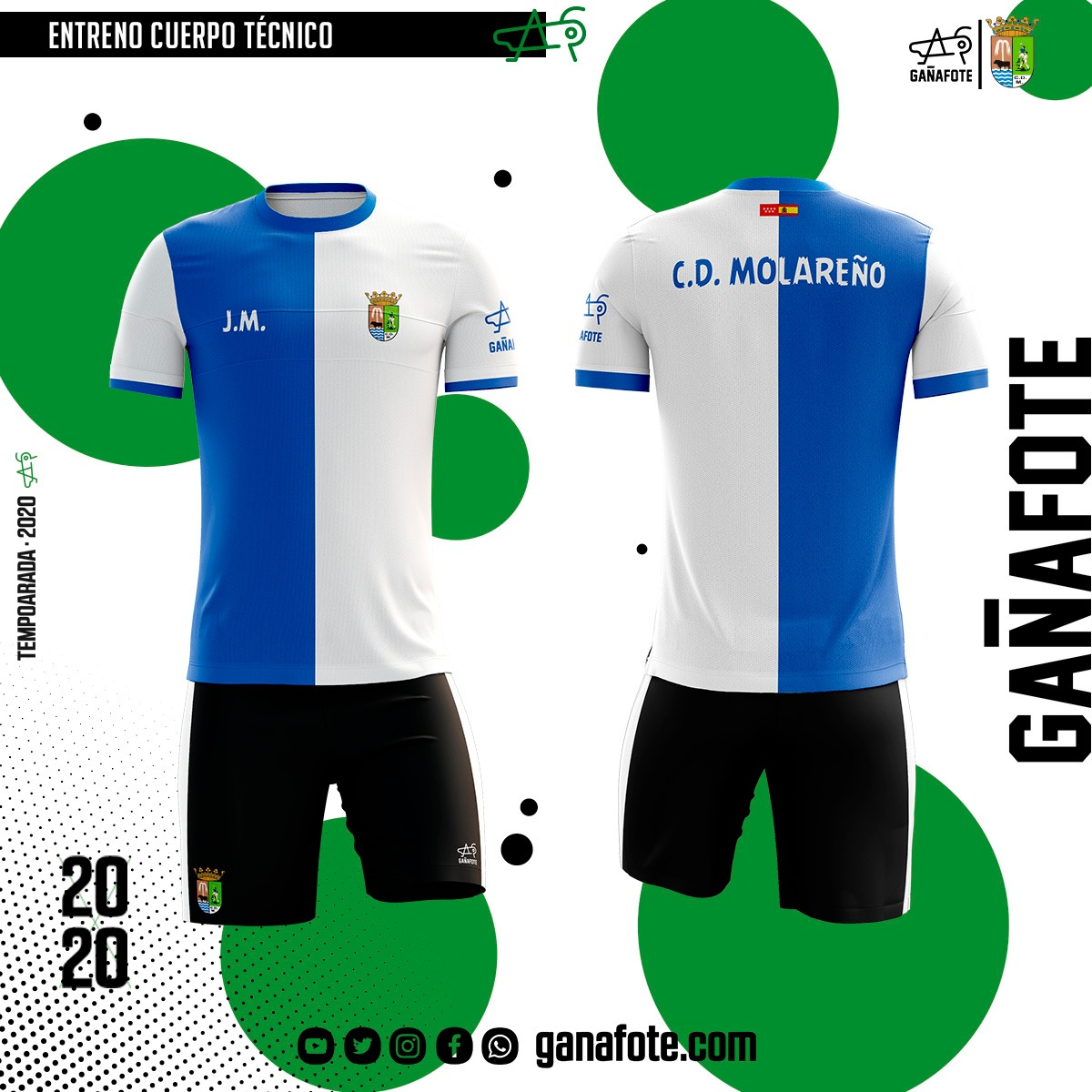 GAÑAFOTE TEXTIL  | Nuestros amigos madrileños de C. D Molareño apuestan por nosotros para su línea de entrenamiento y paseo. Unos diseños acorde a la identidad del club.  ¿Y tú ya eres Gañafote?  #gañafote #sublimaciontextil #design #outfit #ropadeportiva #Futbol #ElMolarpic.twitter.com/I6kg1UfIfl