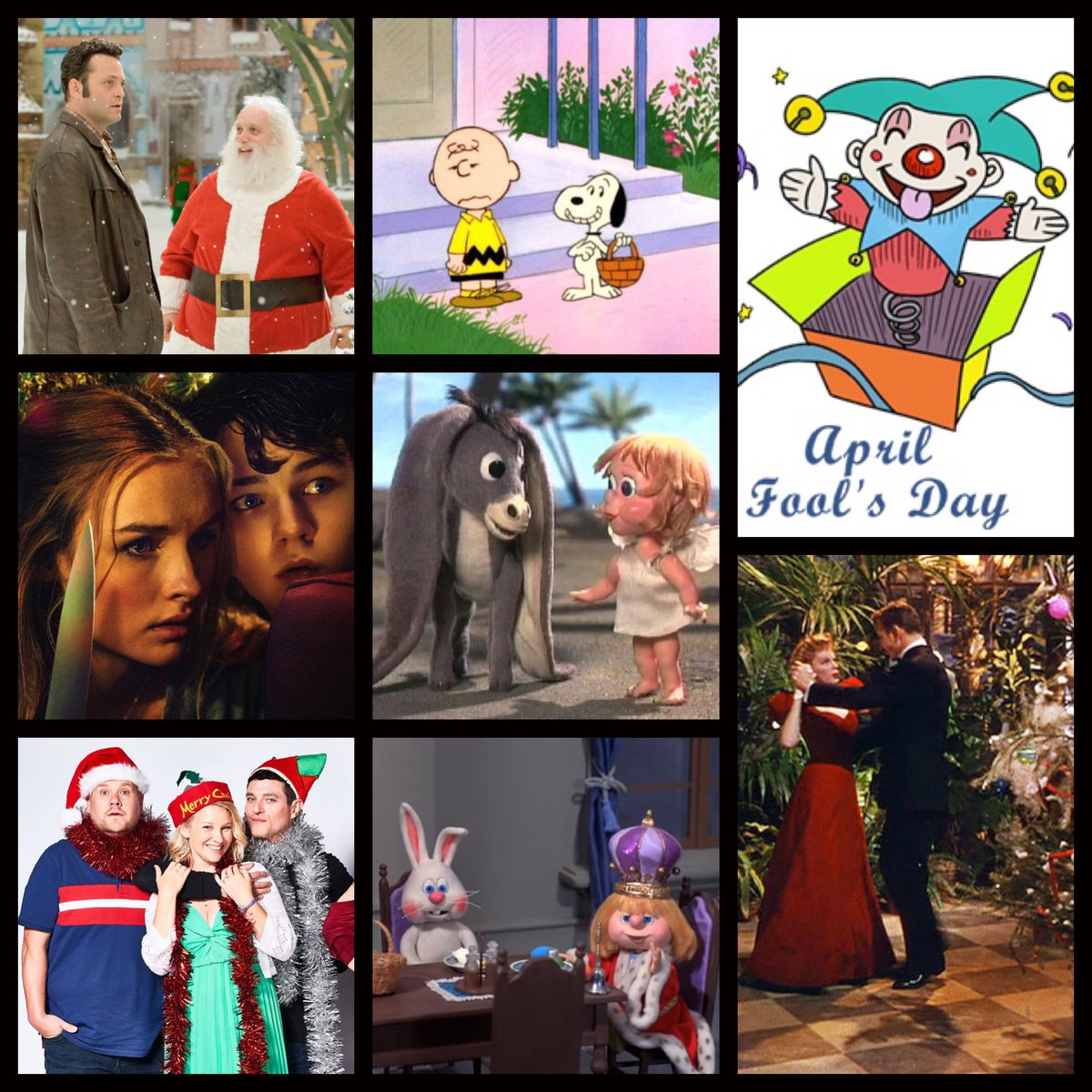 Happy #April, everybody! Three months down, only nine to go! Here's a sneak peak at the month ahead! 🎅🏻🎄🎁 #Christmas #Xmas #FredClaus #ItsTheEasterBeagleCharlieBrown #BetterWatchOut #NestorTheLongEaredChristmasDonkey #MeetMeInStLouis #GavinAndStacey #TheEasterBunnyIsCominToTown