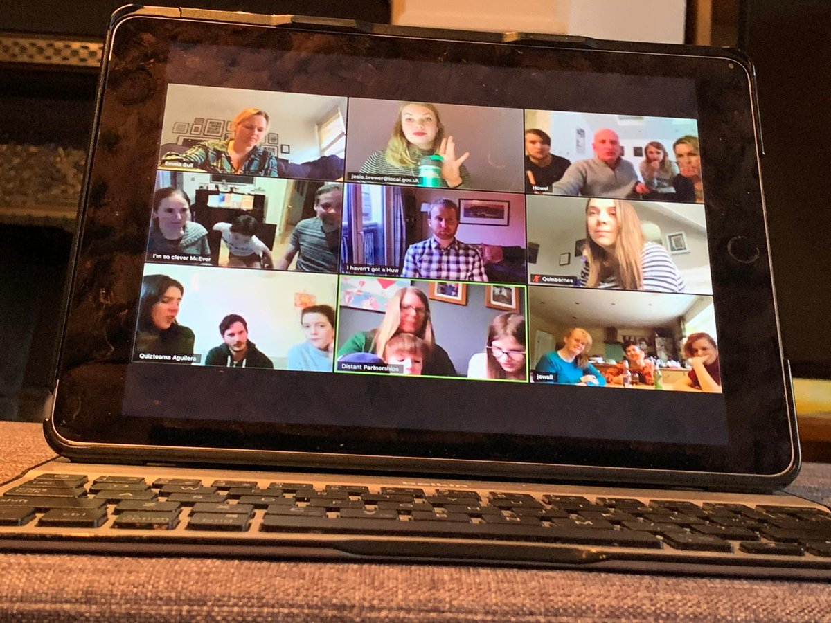 Our #CSR team hosted our first #VirtualPubQuiz last night to raise money for @UNICEF and help children affected by #Coronavirus.  We had a whopping 20 family teams on board - sadly they couldn't fit on the screen!   #Fundraising #StayHomeSaveLives