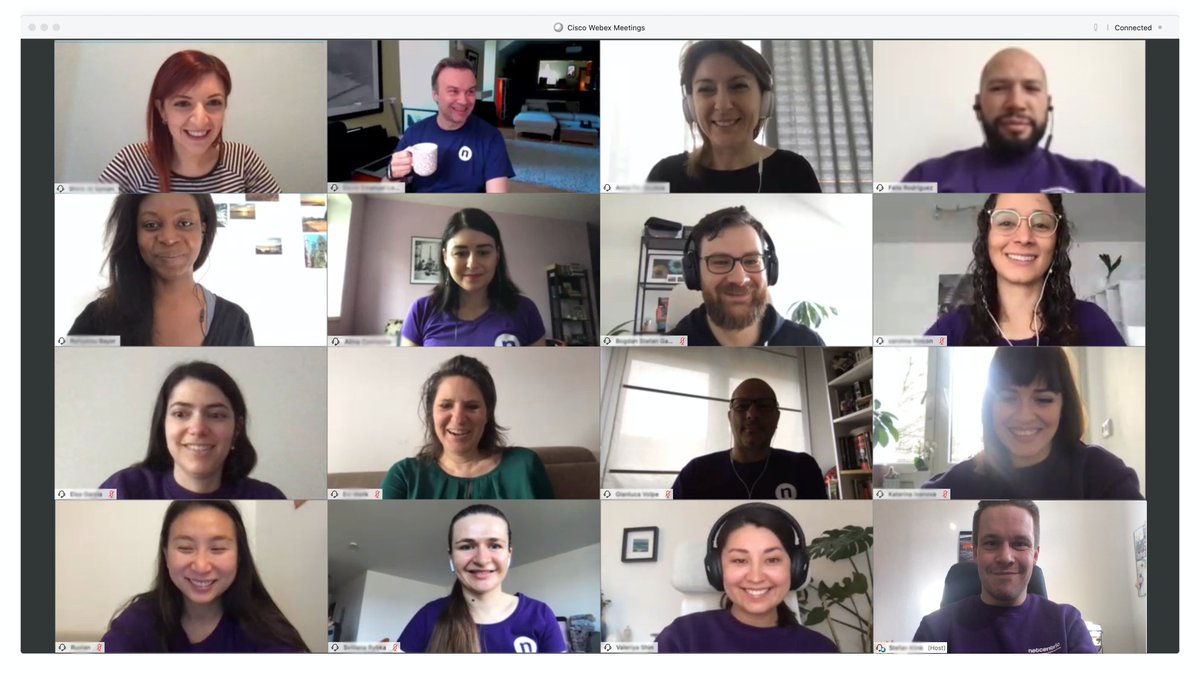 Even when we're all working from home, our team spirit remains the same.  @Webex #NetcentricPeople #WorkFromHome #RemoteWork #DevLife #RequirementEngineerspic.twitter.com/mMxPtzX6Bq