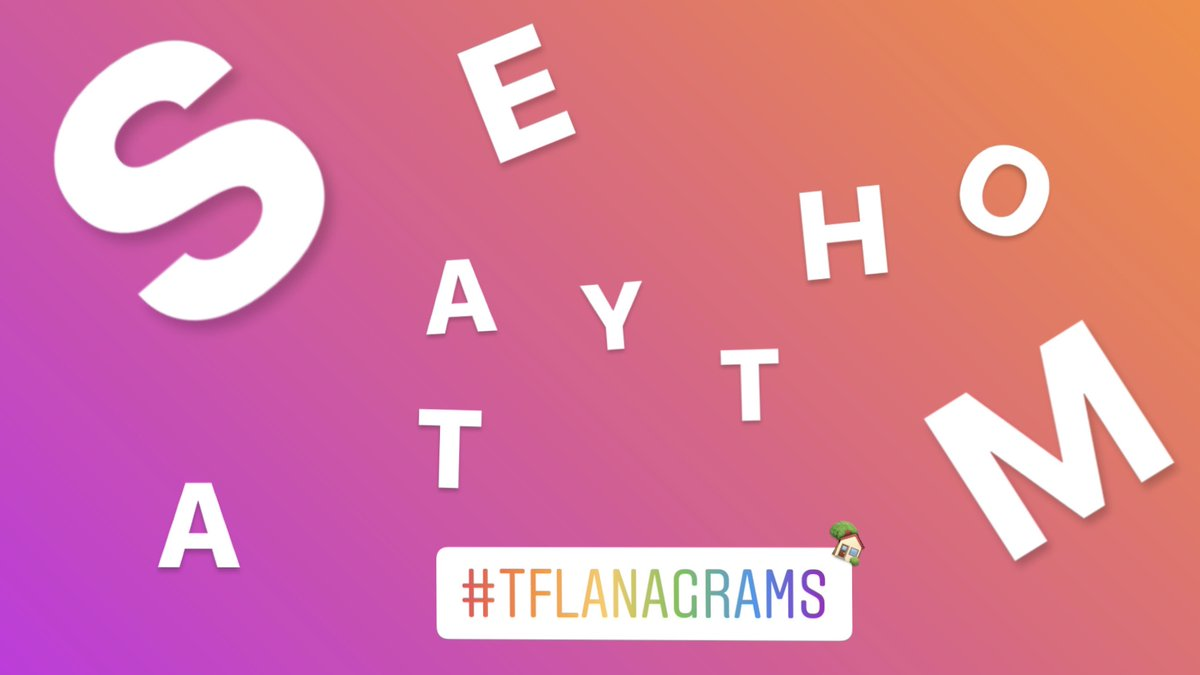 👀 👂 Our most important #tflanagrams ever