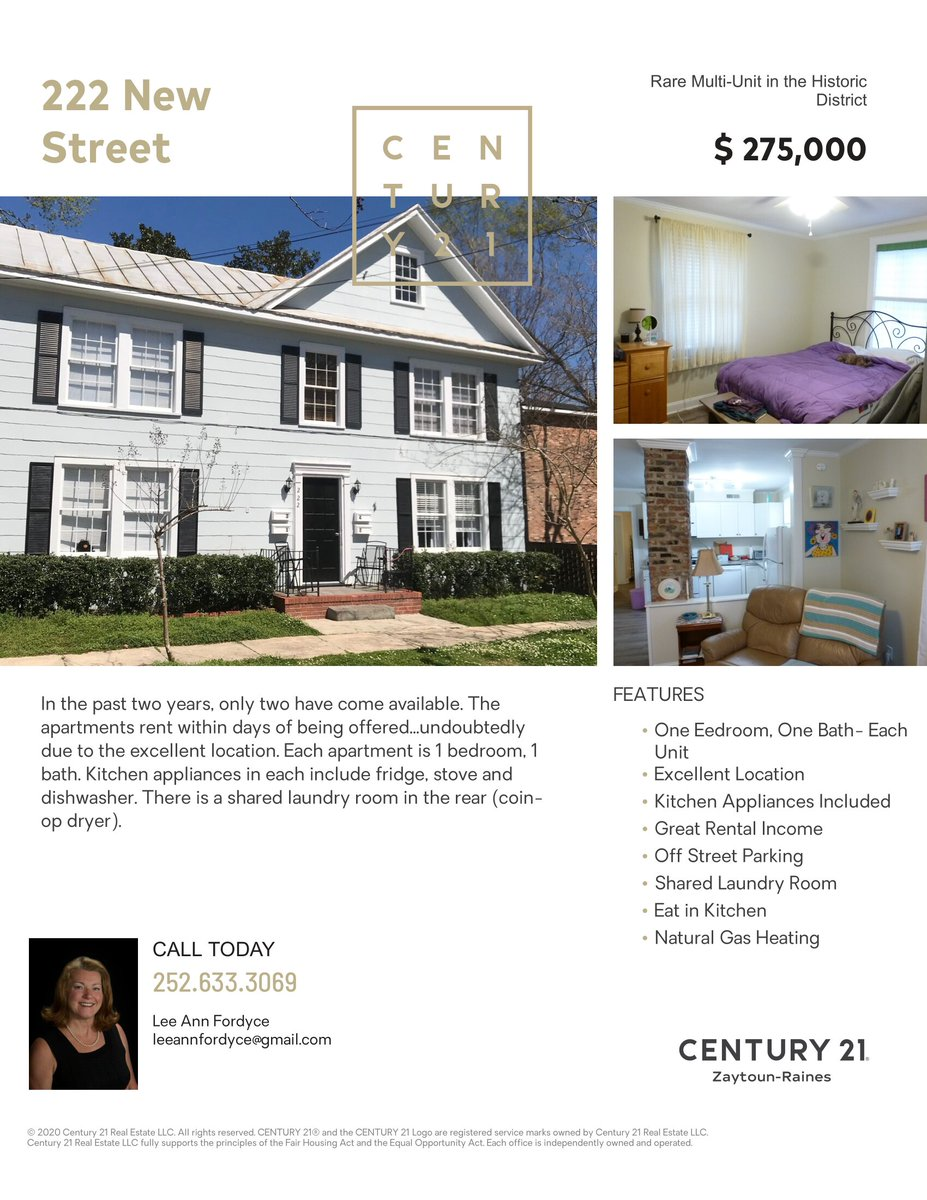 A Rare Multi-Unit in the Historic District!  #multiunit #forsale #justlisted #historicdistrict #bestofthebest #newbern #c21zrpic.twitter.com/s6uUG5hMh3