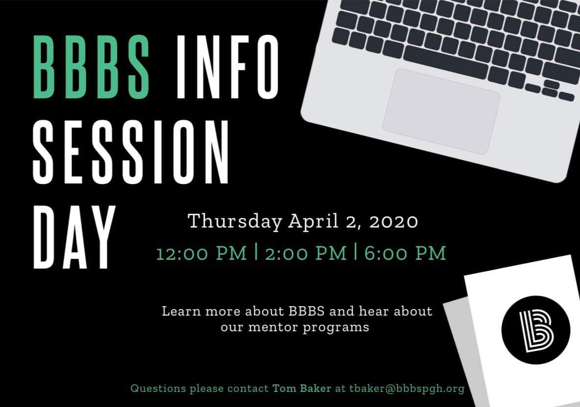 Feel free to join us TODAY at 12pm, 2pm, or 6pm to learn more about @BBBSPgh ! #BeABig  If you will be tuning in on your computer, tablet, or smartphone, you can join at this link: https://global.gotomeeting.com/join/698618733pic.twitter.com/TYGr1aotvh