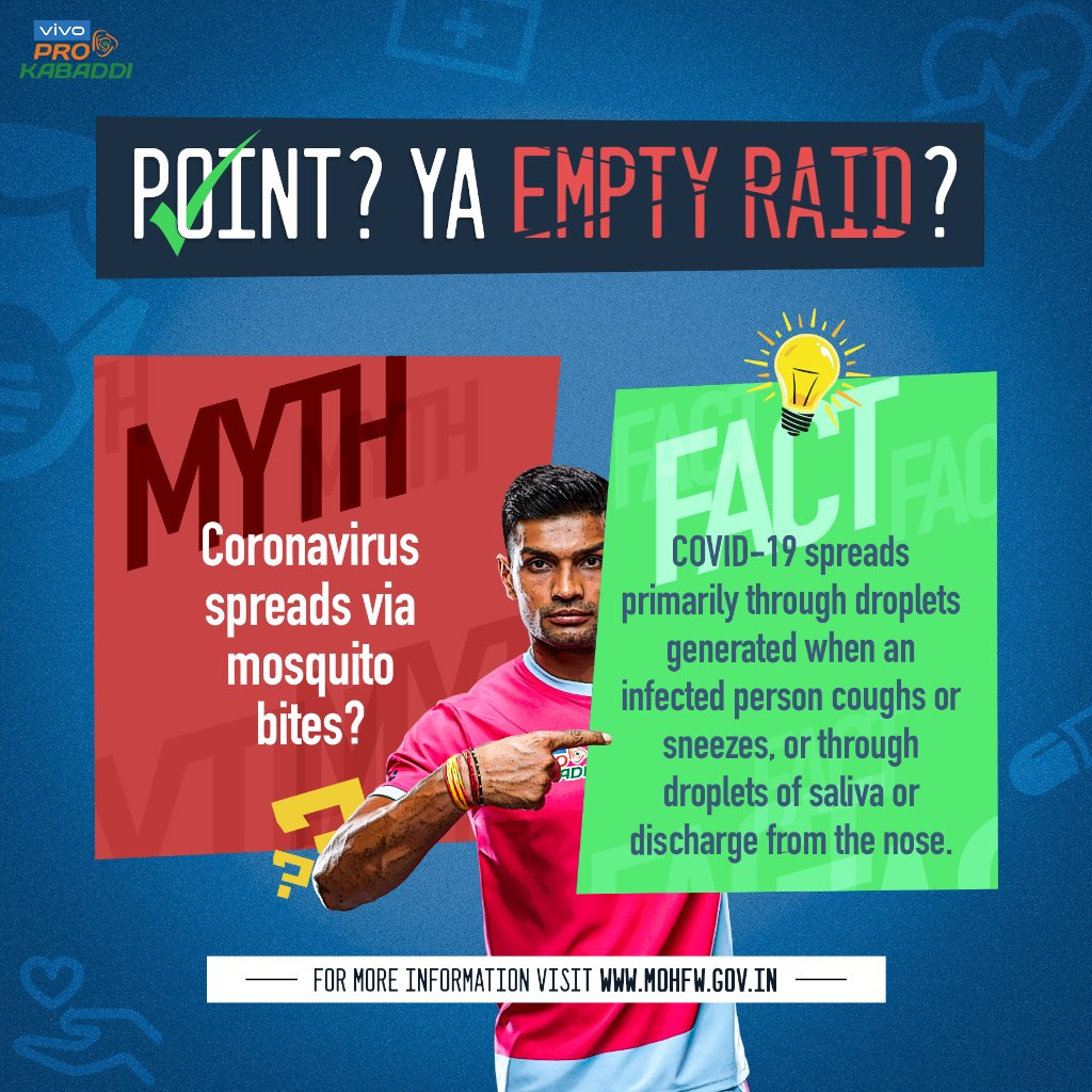 Mosquitoes host serious diseases ✅   However, there hasn't been any evidence to suggest that they carry #COVID-19 as well ❌  #SaathKiTeam #Mythbusters