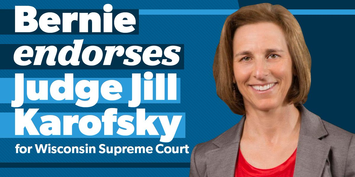 Judges should stand up for the needs of working people and civil rights, not huge corporate CEO donors, which is why I strongly endorse @judgekarofsky for the Wisconsin Supreme Court.