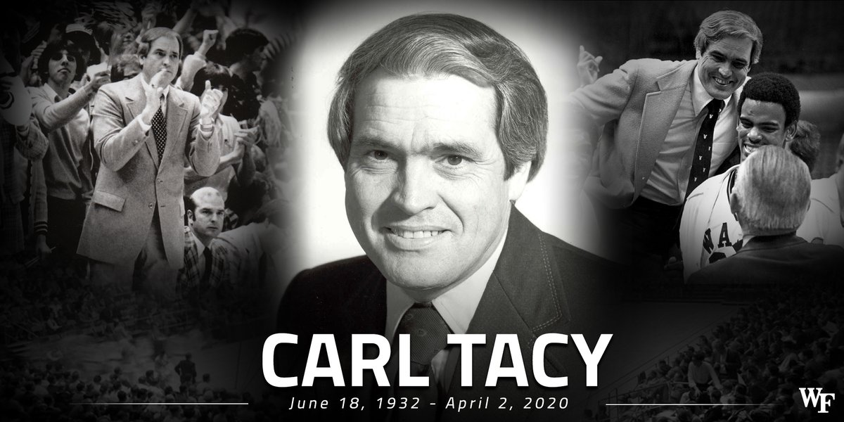 Today, we mourn the loss of former Wake Forest coach Carl Tacy. Our thoughts are with his family and loved ones during this difficult time.   https://t.co/VqgLE0QS4j https://t.co/BVeAQ3EkYv