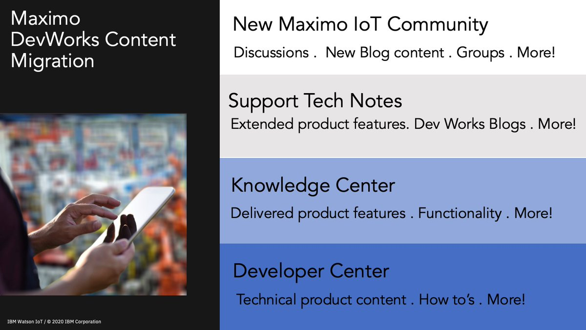 #MaximoCommunity ! Find out more about theMaximo Community Content migration! https://lnkd.in/g6pJEvT  or https://lnkd.in/ghDPEA2   #maximo #maximoeam #community #blogs #docs #moretocome pic.twitter.com/uKW1d98bFY