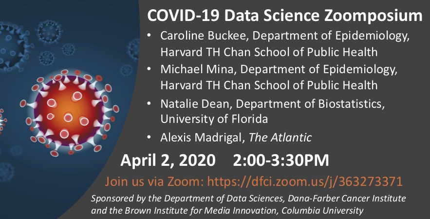 Join me, @michaelmina_lab, and @nataliexdean today for a COVID-19 Zoomposium at 2pm ET. https://t.co/pjWBCWfeMY