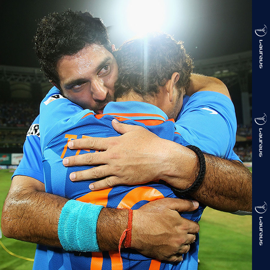 A little throwback to put a smile on the faces of all our Indians followers...  #OnThisDay in 2011, Laureus Academy member @sachin_rt and Ambassador @YUVSTRONG12 were part of India's Cricket World Cup triumph 🇮🇳  It was their first World Cup since 1983 🏆
