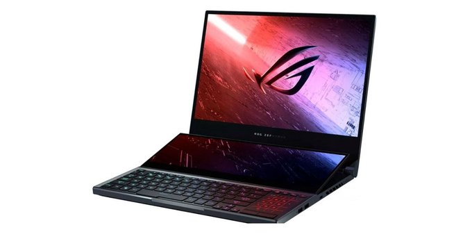 ASUS ROG #ZephyrusDuo15 gaming laptop with dual screens announced with a base price of ~Rs 2,28,380.  Check out other laptops in Zephyrus series. https://in.ohmyfind.com/search/asus-rog-zephyrus-duo …pic.twitter.com/ywmkGkhpn8