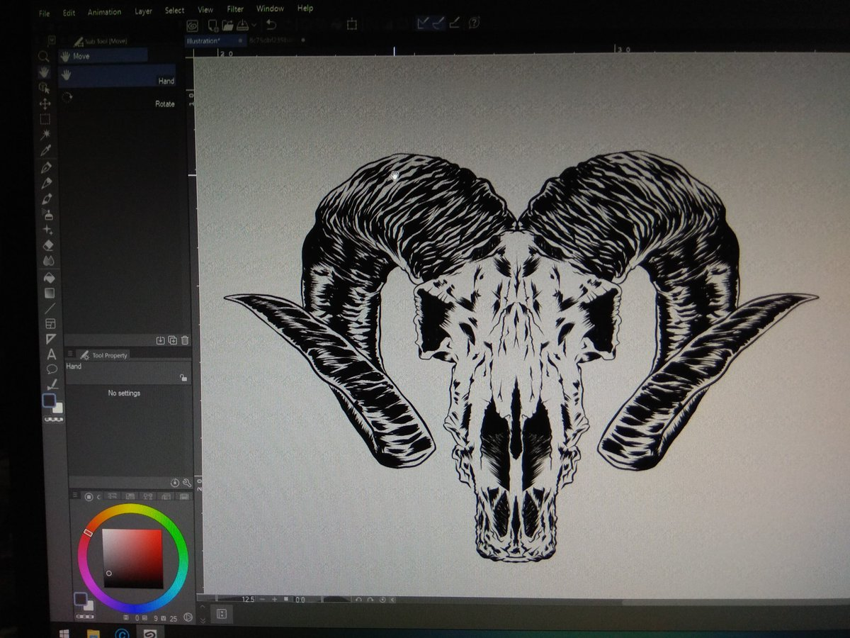 Clip studio paint in action #666 #vector pic.twitter.com/H4BB40SiWU