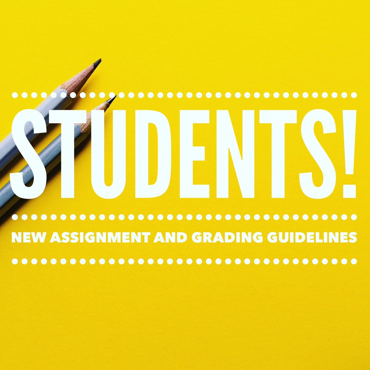 Scroll down to read new @FortWorthISD assignment and grading guidelines! ⬇️⬇️⬇️