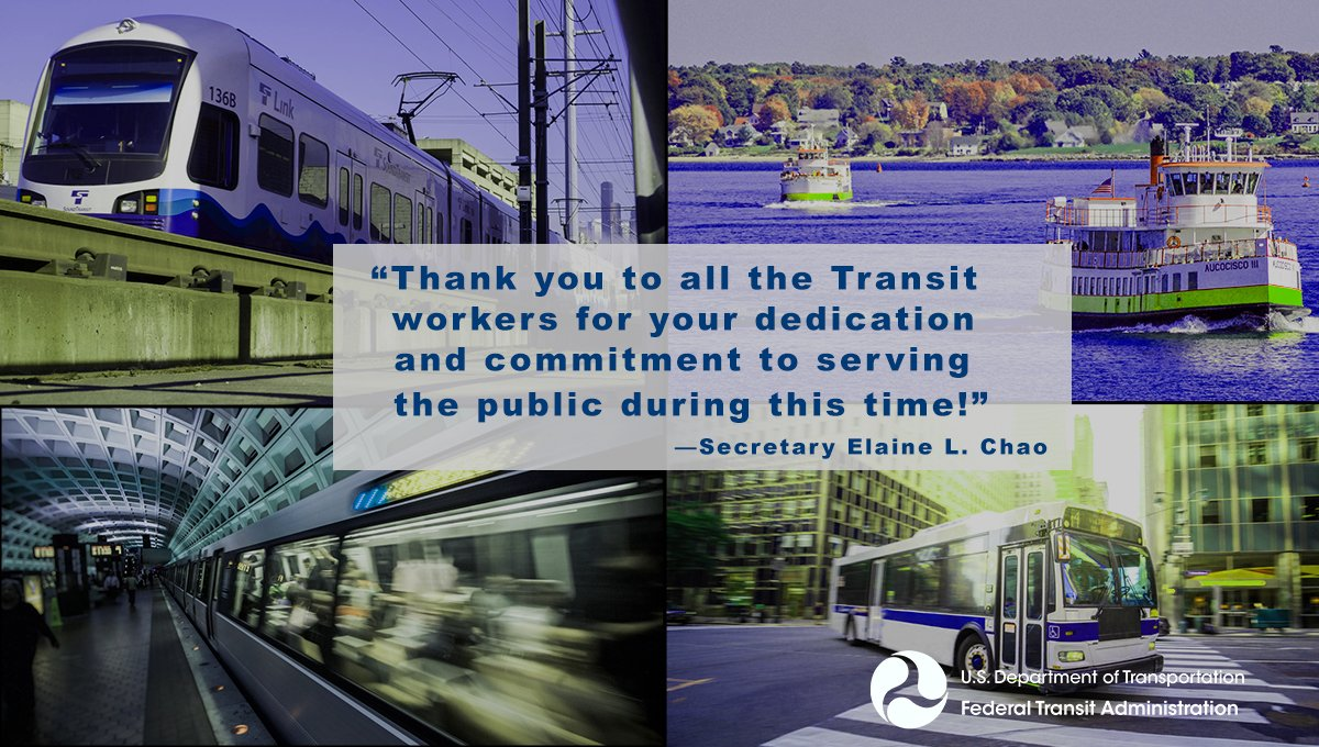 To all of our Nation's transit workers, we thank you!