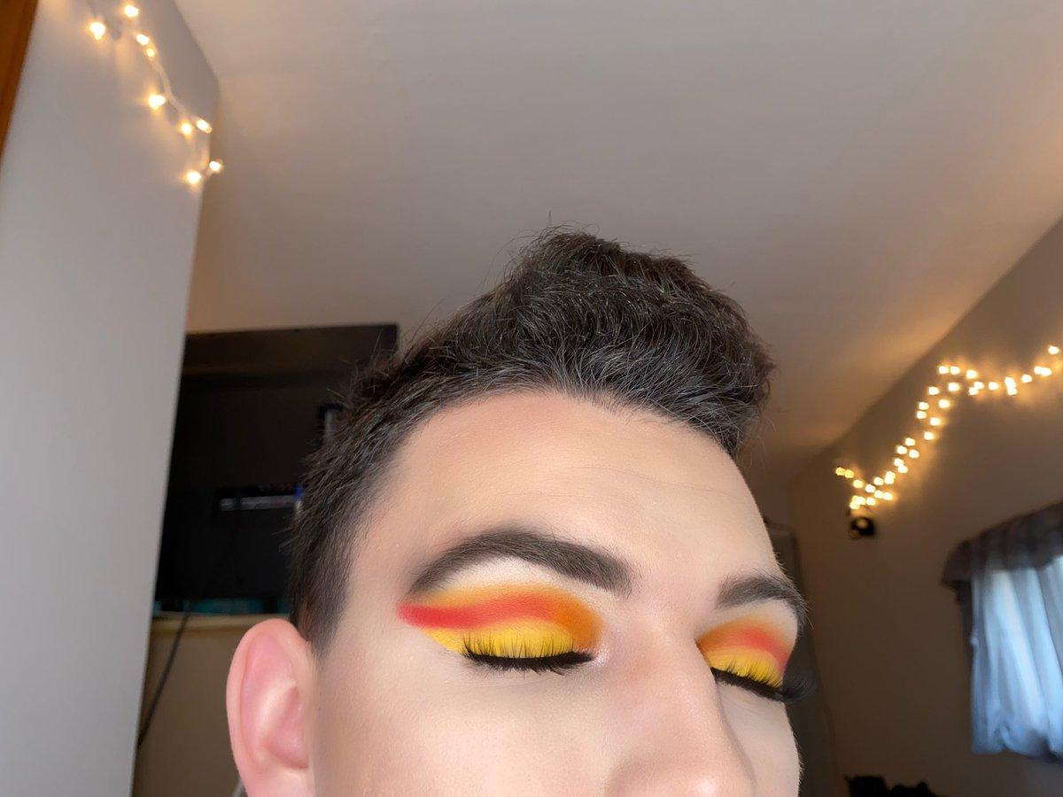 No glitter 💛❤️🧡 matte look #makeup #makeupartist #beautyguru #beautytips #jamescharles #morphebabe #morphexjamescharles @jamescharles @MorpheBrushes @ABHcosmetics @BenefitBeauty