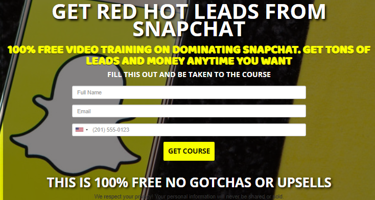 FREE SNAPCHAT MASTERCLASS 25 videos 100 % Free Video Course Teaches You How to Dominate Snapchat and Get Tons of Leads and Money. https://tcpros.co/Dvzn2  https://tcpros.co/Dvzn2  #socialmediamarketing #AffiliateMarketing pic.twitter.com/RE88uPDMSJ