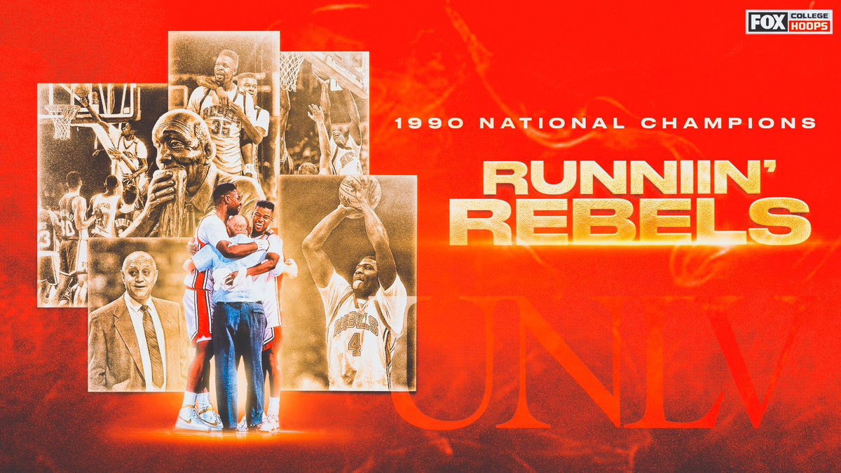 30 years ago today, @TheRunninRebels thrashed Duke 103-73 in the title game 🏆👏
