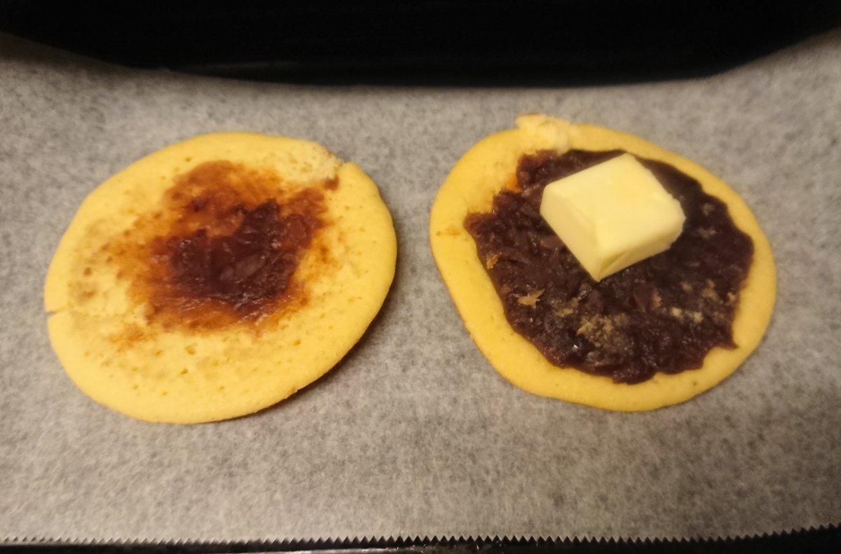 RT @Linasuke0508: 不良だからこんな時間に、 どら焼きひらいて、バターのせてトースターで焼いたやつ食べてる。 https://t.co/bUuzmFYyWX