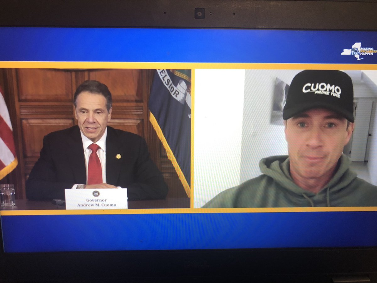 """""""You're looking fit and fine,"""" Gov. Cuomo said to his brother, who is joining the briefing it seems"""