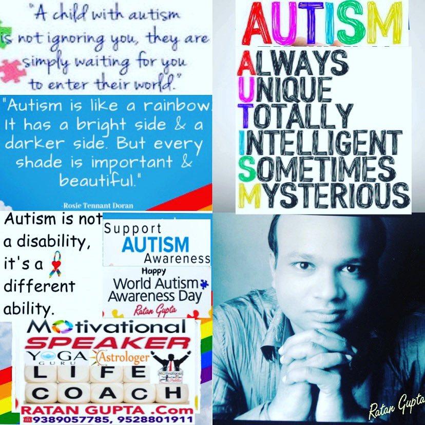 Best Wishes on #WorldAutismAwarenessDay #WorldAutismDay By #RatanGupta #MotivationalSpeaker #LifeCoach #Astrologer #Yoga #Guru #LeadershipTrainer #BusinessCoach #CorporateTrainer #SalesTrainer #WellnessCoach #HealthCoach #Numerologist #Vastu 9389057785 http://RatanGupta.compic.twitter.com/HbRoduJEVi