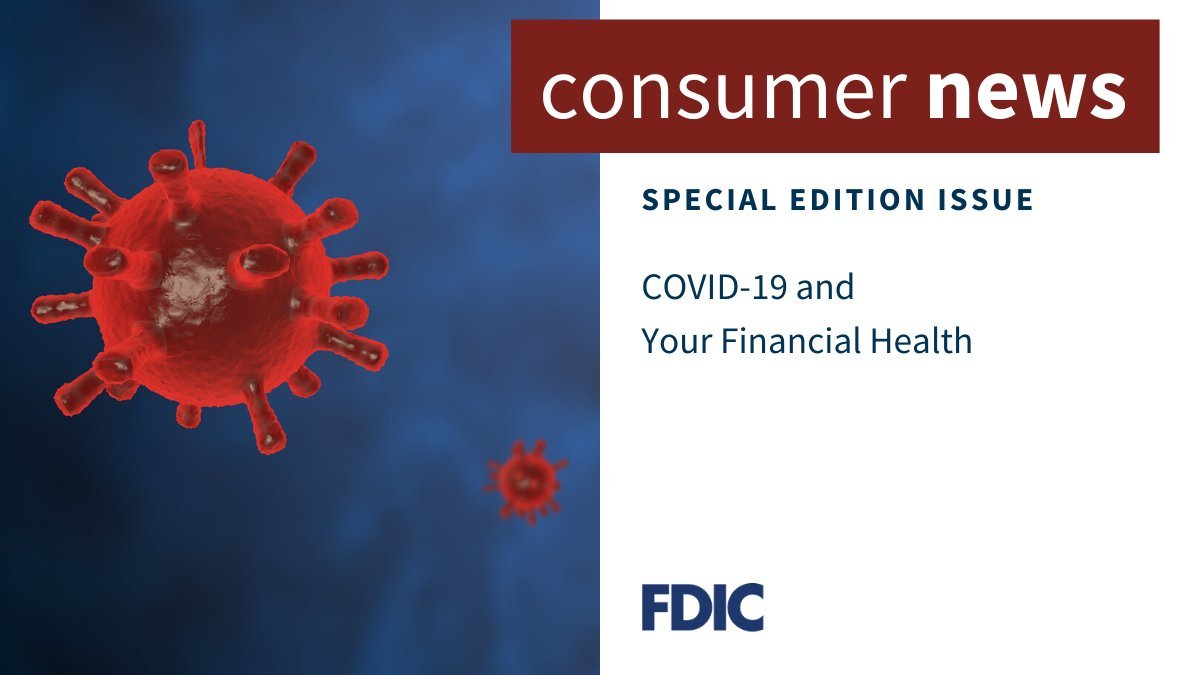 Keeping yourself and your money safe is more important than ever during the #coronavirus pandemic. We've collected some easy-to-follow steps for you.  #FDICConsumerNews https://t.co/cqlc55Yxni https://t.co/V0SJC8cutO