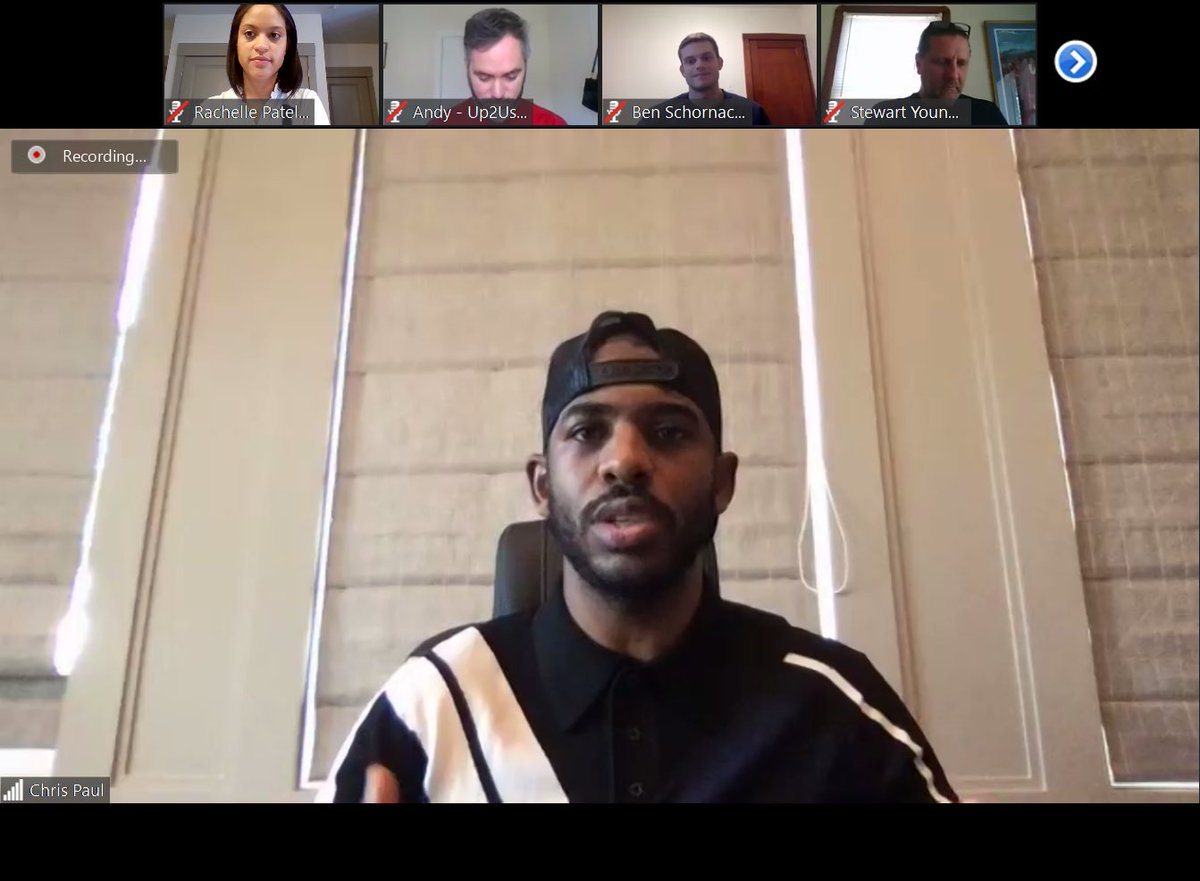 Thank you SO much to everyone who joined our first #LaureusVirtualCamp! We had amazing engagement from the #SBYD sector and @CP3 did a fantastic job kicking it off! Can't wait to see everyone again next week 😁