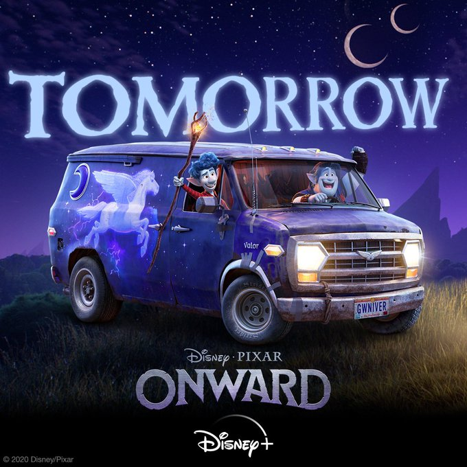 The adventure beginneth✨Start streaming #PixarOnward tomorrow in the U.S., only on #DisneyPlus!