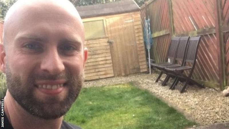 Scottish javelin record-holder James Campbell says completing a marathon in his back garden to raise money for the NHS was the best feeling 👏 In full: bbc.in/2xI4oOG