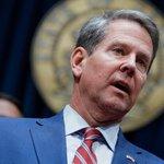 Image for the Tweet beginning: Georgia Governor Brian Kemp finally