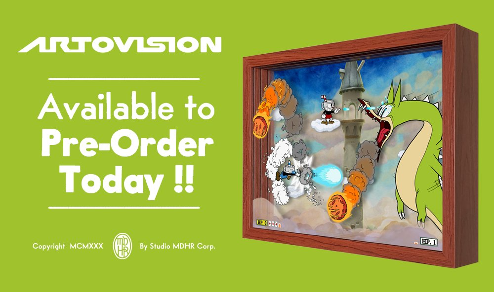 This match will get red hot! Experience Cuphead & Mugman's fiery fracas against a most fearsome foe in this brand new Grim Matchstick shadowbox from the team at @Artovision3D.  This custom creation is available for pre-order now. Shipping mid-April!  https://t.co/O4M25LG3Rh https://t.co/taxq4pOanF