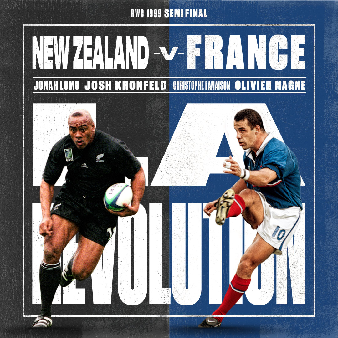 test Twitter Media - La révolution in full 🇫🇷  Join us for the RWC 1999 semi-final clash this Saturday 🙌  ⏰ 19:00 BST 📺 Rugby World Cup Facebook /  World Rugby YouTube https://t.co/QjAAIdy1P7