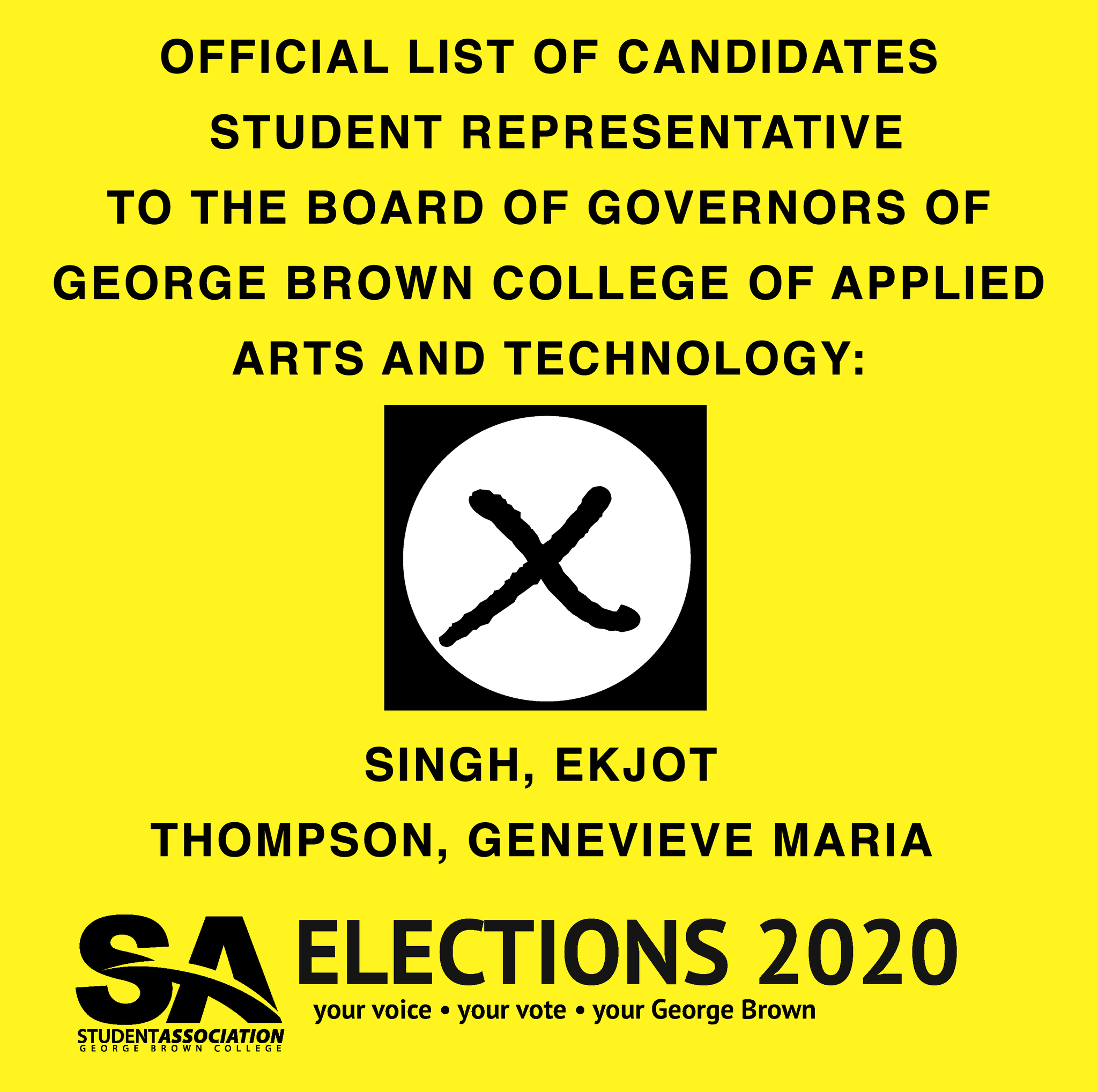 Sa Of Gbc On Twitter Gbc Students Who Haven T Voted Voting Period Of The 2020 Spring Election Will End April 3 2020 At 11 59 P M Official List Of Candidates For The Student