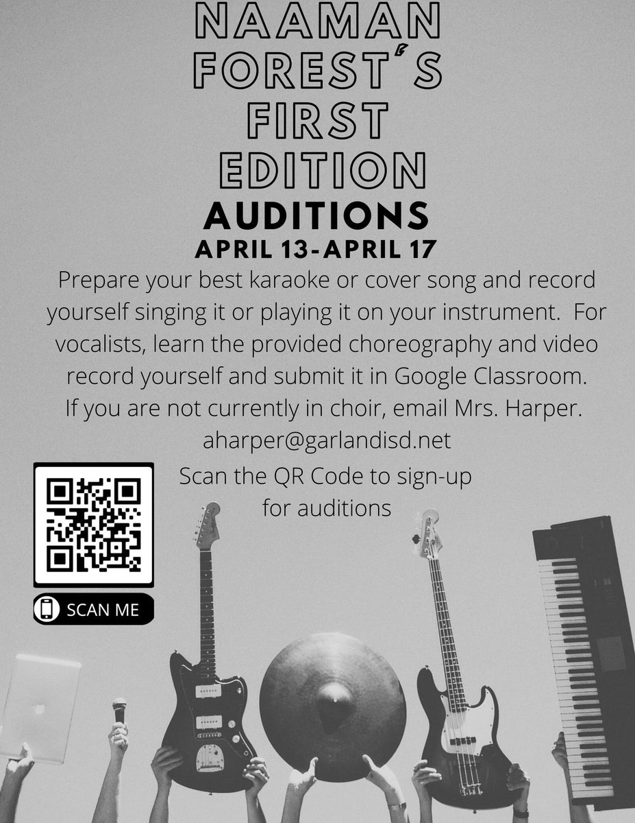 Do you like to sing pop, rock, or country? Do you like to dance and sing? Do you play an instrument?  If so, then Naaman Forest's First Edition is the place for you!  Tryout information is below  #WeAremUSic <br>http://pic.twitter.com/MLfcWnCKrY