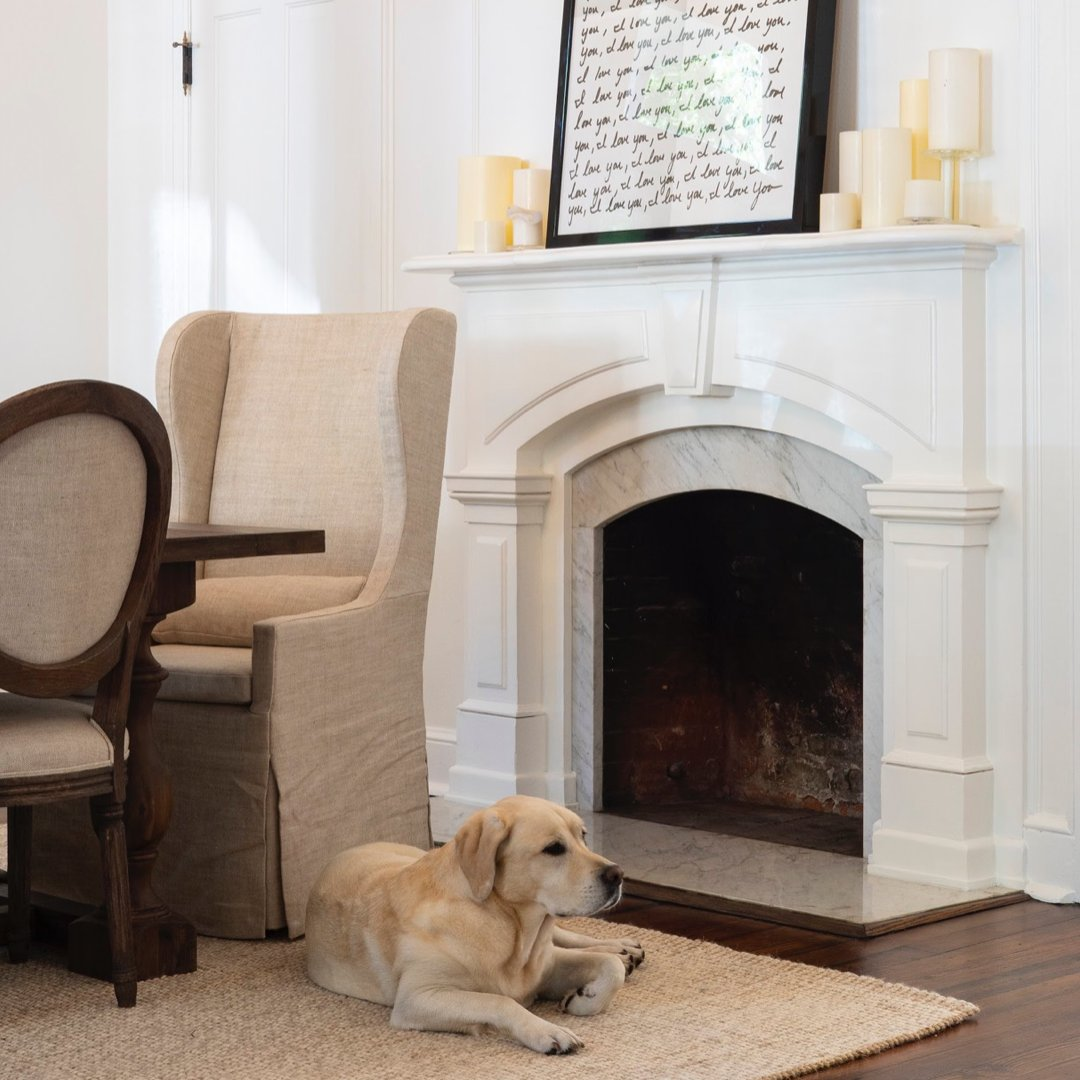 You know a house is complete when the dog approves! #kingWilliam #historicdistrict #remodel #dog #cch #colliercustomhomes  pic.twitter.com/d5bdS2y0sk
