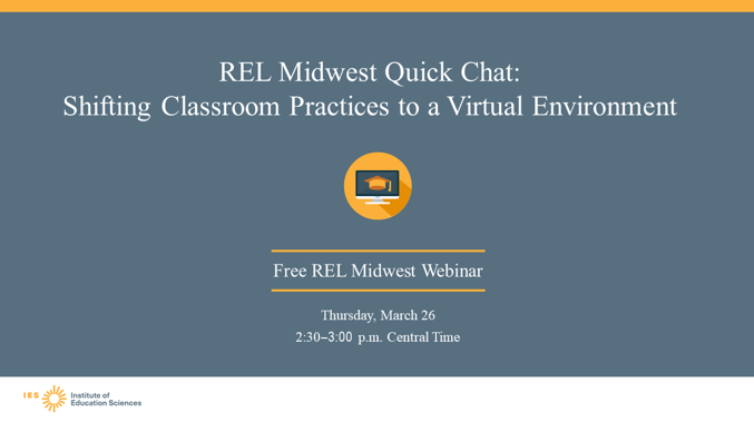 MarzanoResearch: RT RELMidwest: The full recording of our recent webinar on shifting classroom practices to a virtual environment is now available. You can check out the full recording here: https://ies.ed.gov/ncee/edlabs/regions/midwest/events/2020/march-26.aspx …pic.twitter.com/jmmK30BofE