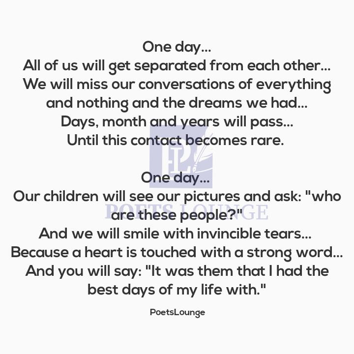 ONE DAY!!!  visit:  for more  #COVID19Pandemic #LaCasaDePapel4 #poetry #poem #WritingCommunity #writers Aunty Kemi #Ajah Akwa Ibom #StayAtHome #Calabar #oneday #friends #friendship #bestdays
