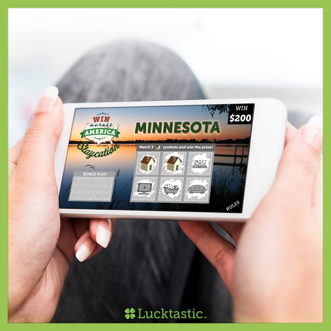 Make it a weekend staycation with pizza 🍕, home theater 📺, video games 🎮and more. Play our Win Across America: Staycation card for your chance to win $200 💵- every state has a guaranteed winner! 🇺🇸