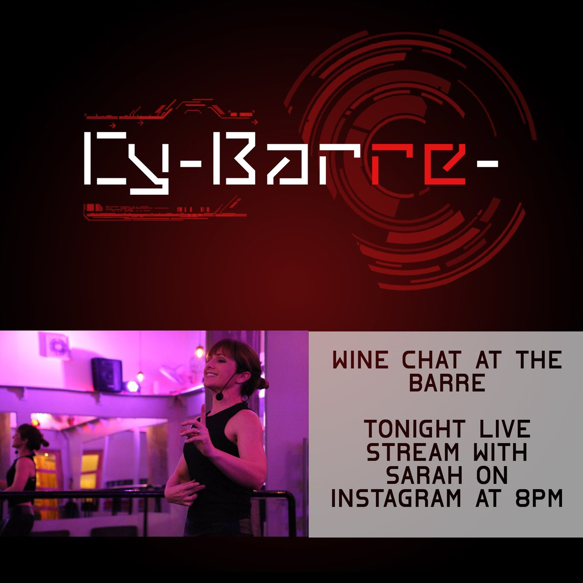 Surprise!!! Feel like having a glass of vino with your Cy-Barre- buddies? Well tonight @barreboss is hosting the first wine chat at The Barre!  Join in at 8pm #cybarre #thebarre  #fitness #barre #training #instafit #workhardplayhard #exercise #workout