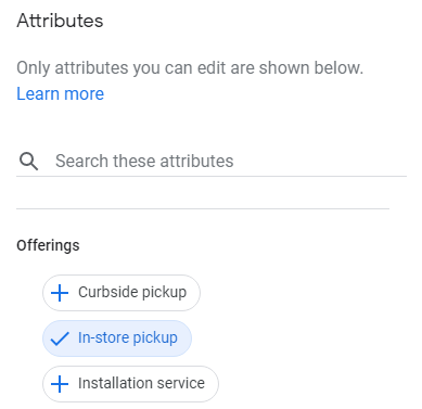 Seeing new attributes for retailers appearing for Curbside Pickup in @GoogleMyBizpic.twitter.com/S2xmaXbsUo