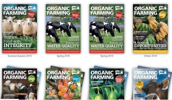 Organic Farming mag comes out 3 times a year. Its designed to keep farmers, growers & advisers in the know about the latest news, policy, opinions & market information from the #organic world. But its not just for them -anyone can subscribe. Why not you? ow.ly/pxxs50yZO8F