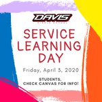 Image for the Tweet beginning: Service Learning Day tomorrow!