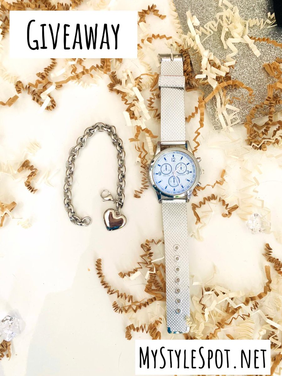 RT! #GIVEAWAY: #Win a Chic Ladies Watch & Heart Bracelet #jewelry #jewelrysweeps #bloghop #contest #sweeps #watch #ladieswatch #heartbracelet #bracelet #jewelrygiveaway #AD http://mystylespot.net/giveaway-win-a-chic-ladies-watch-and-heart-bracelet/…pic.twitter.com/OiihUQGeRB